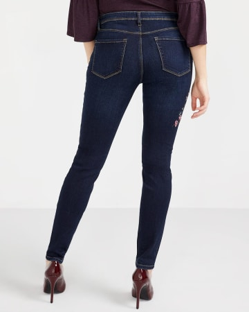 Tall Embroidered Skinny Jeans