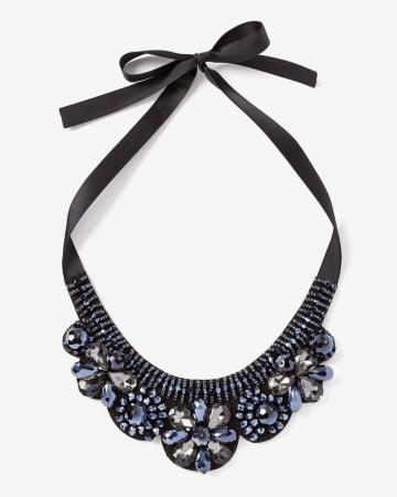 Ribbon Bead Statement Necklace