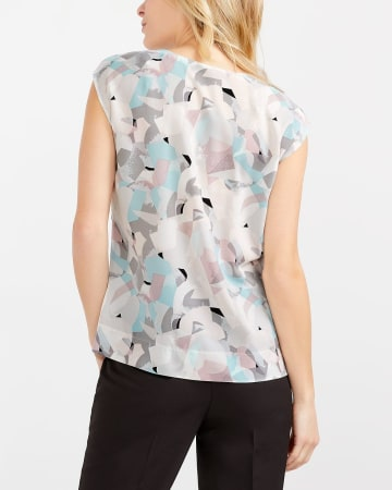 Willow & Thread Mix Media Printed Top