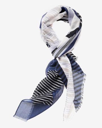 Foulard à rayures variées