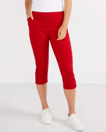 The Petite Solid Iconic Capri Pants