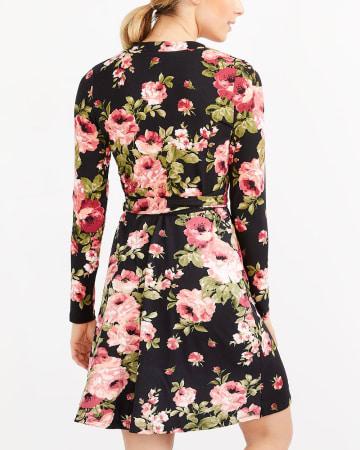 Wrap Printed Dress