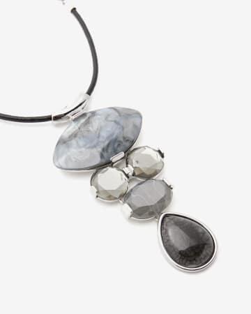 Long Multi-Stone Necklace