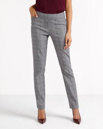 Pantalon à carreaux à jambre droite L'Iconique Petites