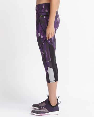 Hyba Printed Running Capri Legging