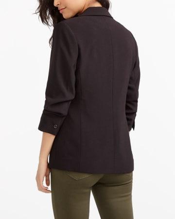 ¾ Sleeve Button Blazer