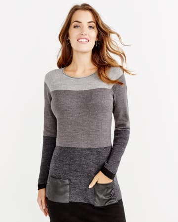 Pocket Colour Block Dress