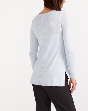 Cashmere Blend High-Low Hem Sweater