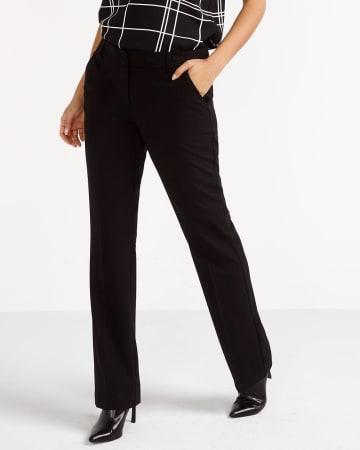 Pantalon uni à jambe évasée