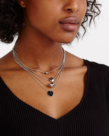 4-Layer Pendant Necklace