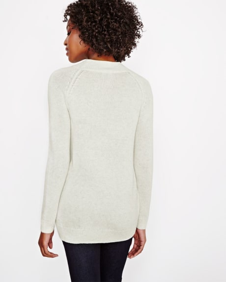 Cashmere-like Braided Tunic Sweater