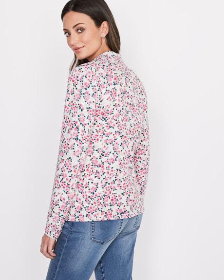 Veston à imprimé floral