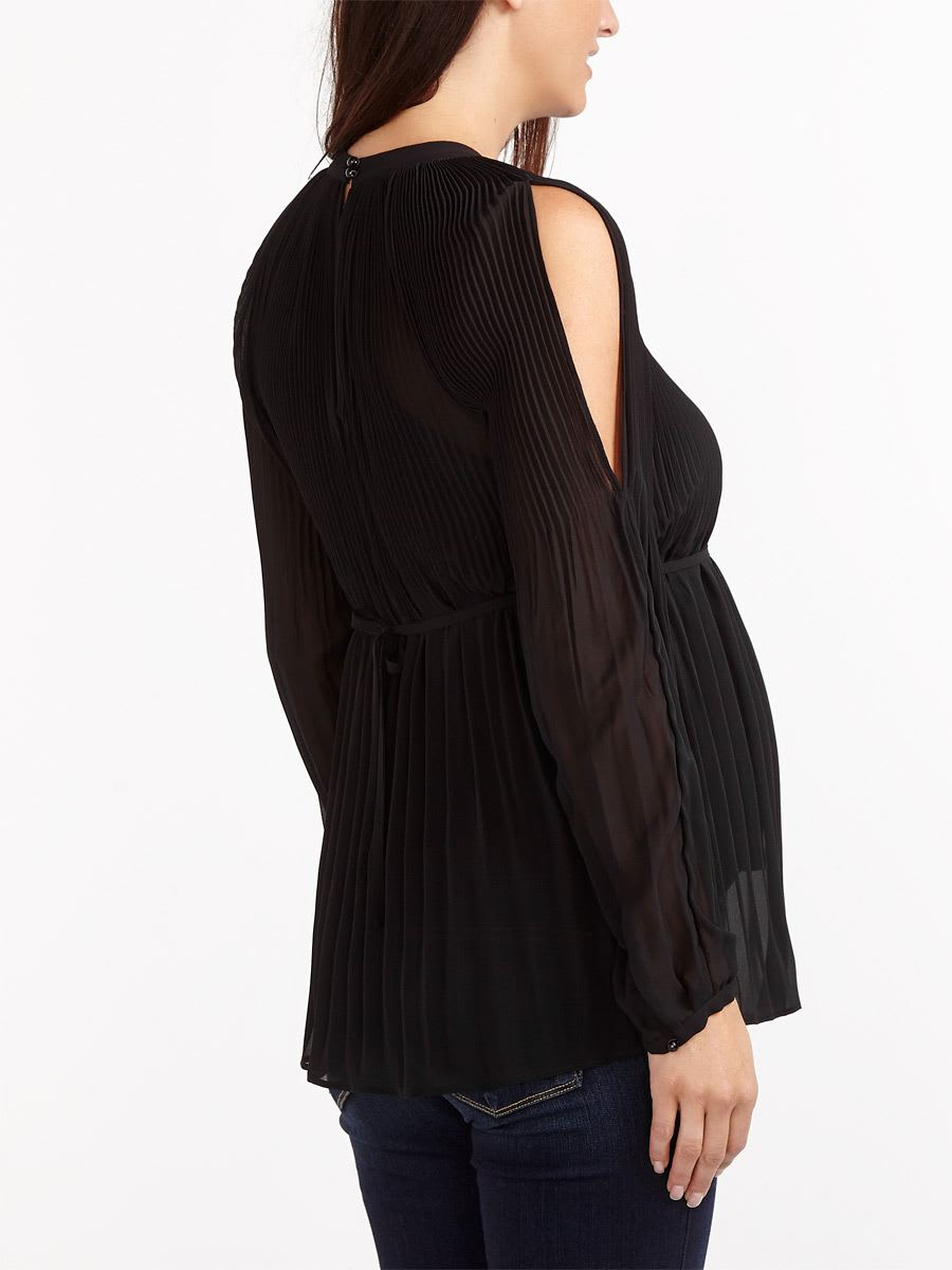 Stork & Babe - Cold Shoulder Maternity Blouse