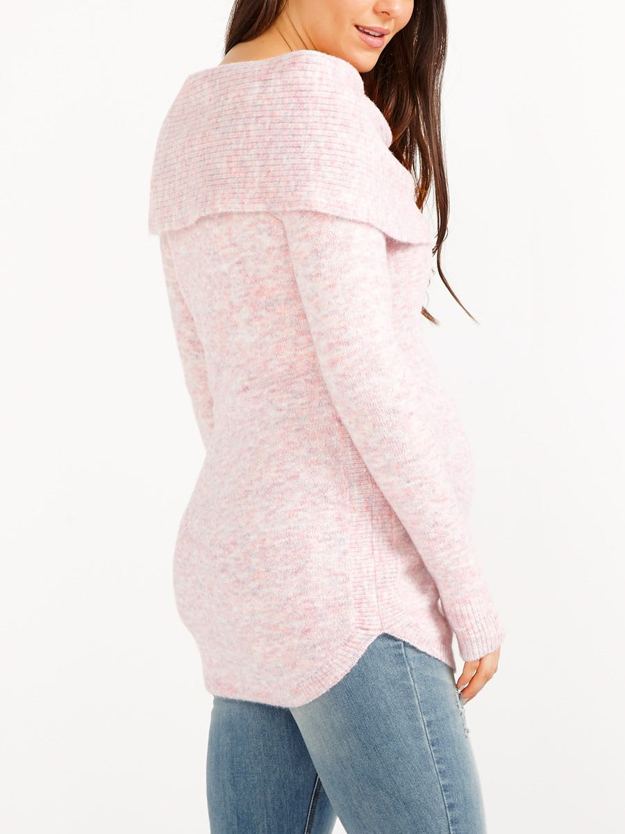 Wide Cowl Neck Maternity Sweater