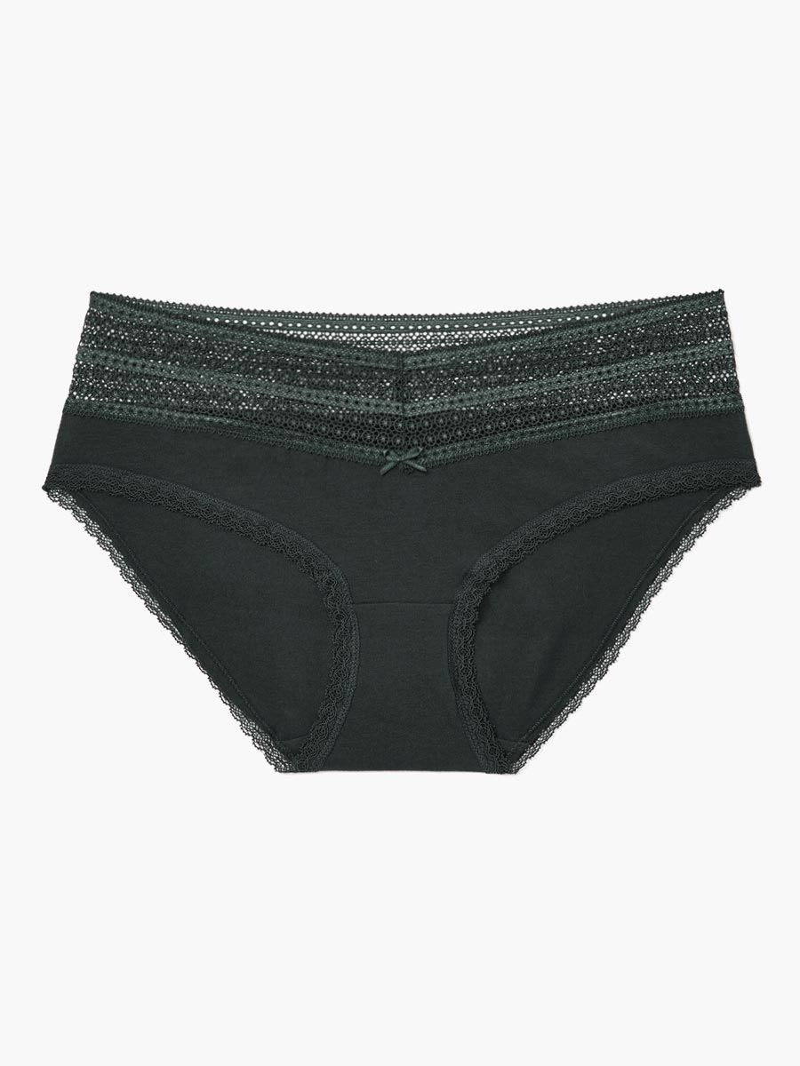 Lace Trim Hipster Maternity Panty