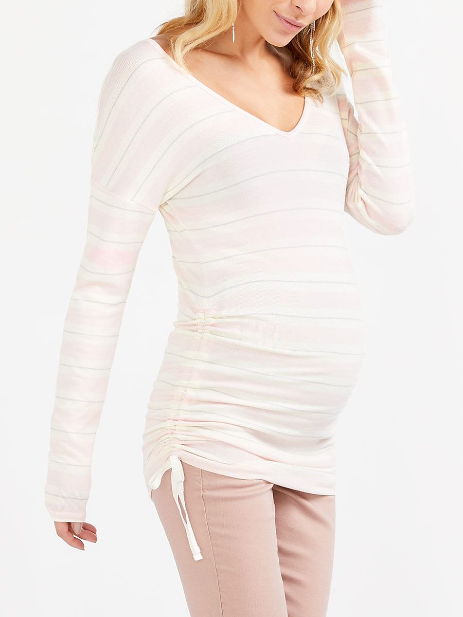 Reversible Neck Maternity Long Sleeve T-Shirt