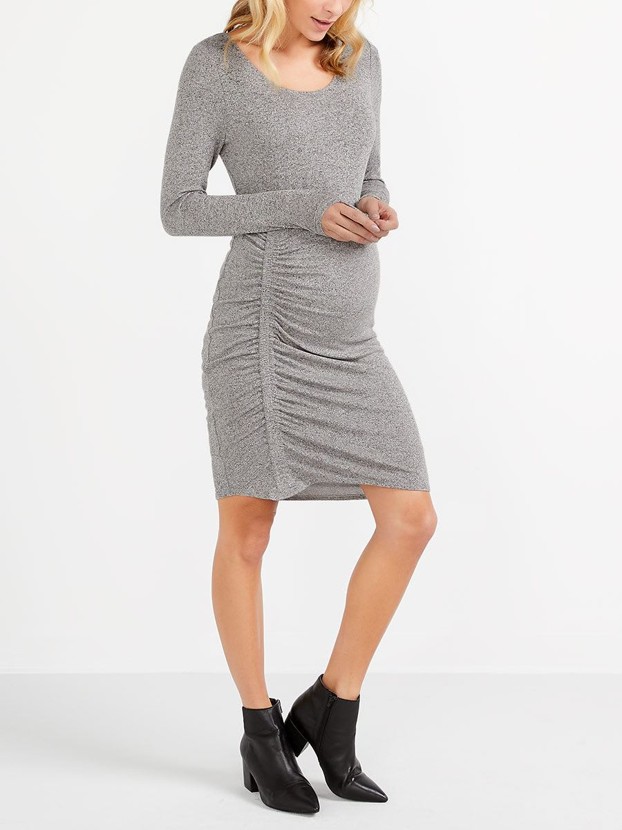 Maternity bodycon dress with shirring thyme maternity maternity bodycon dress with shirring ombrellifo Choice Image