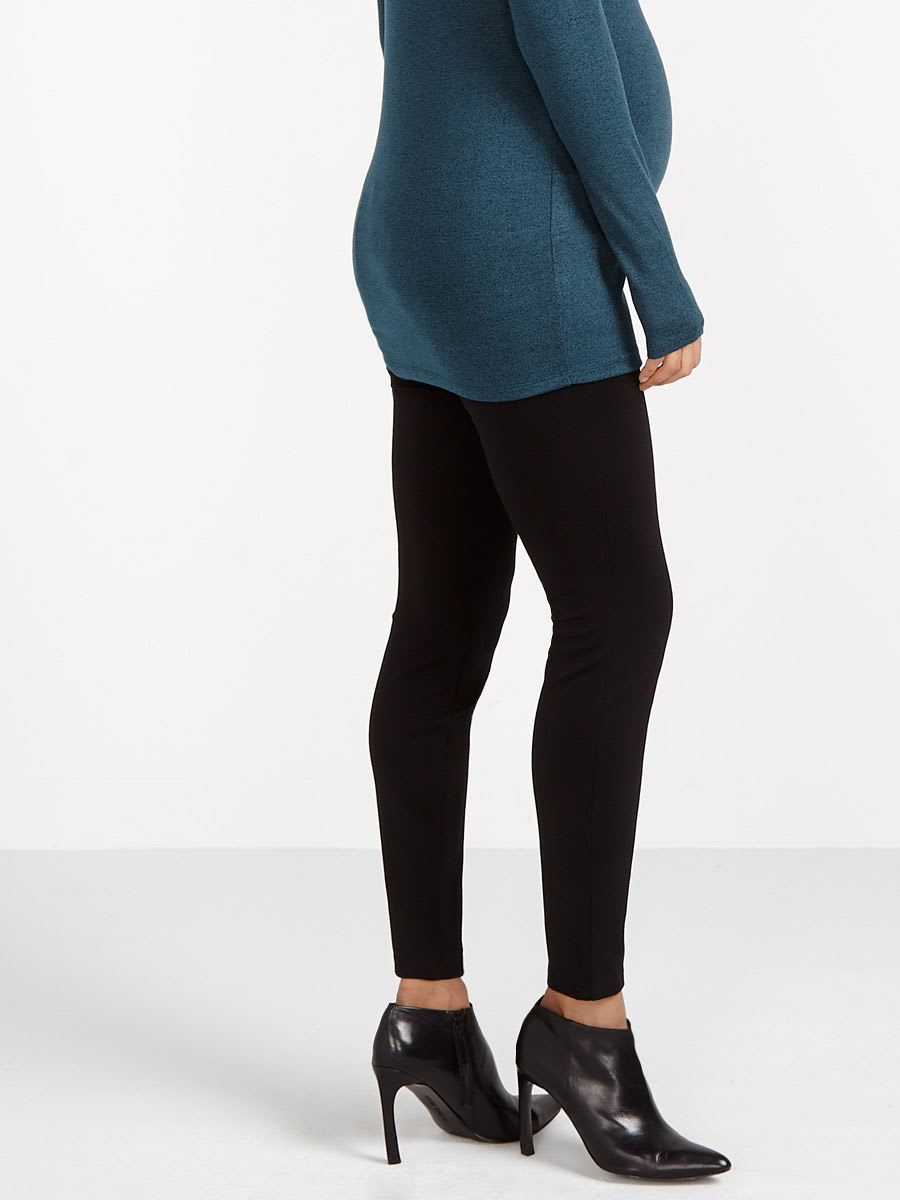 Stork & Babe - Ponte Maternity Legging with Zippers