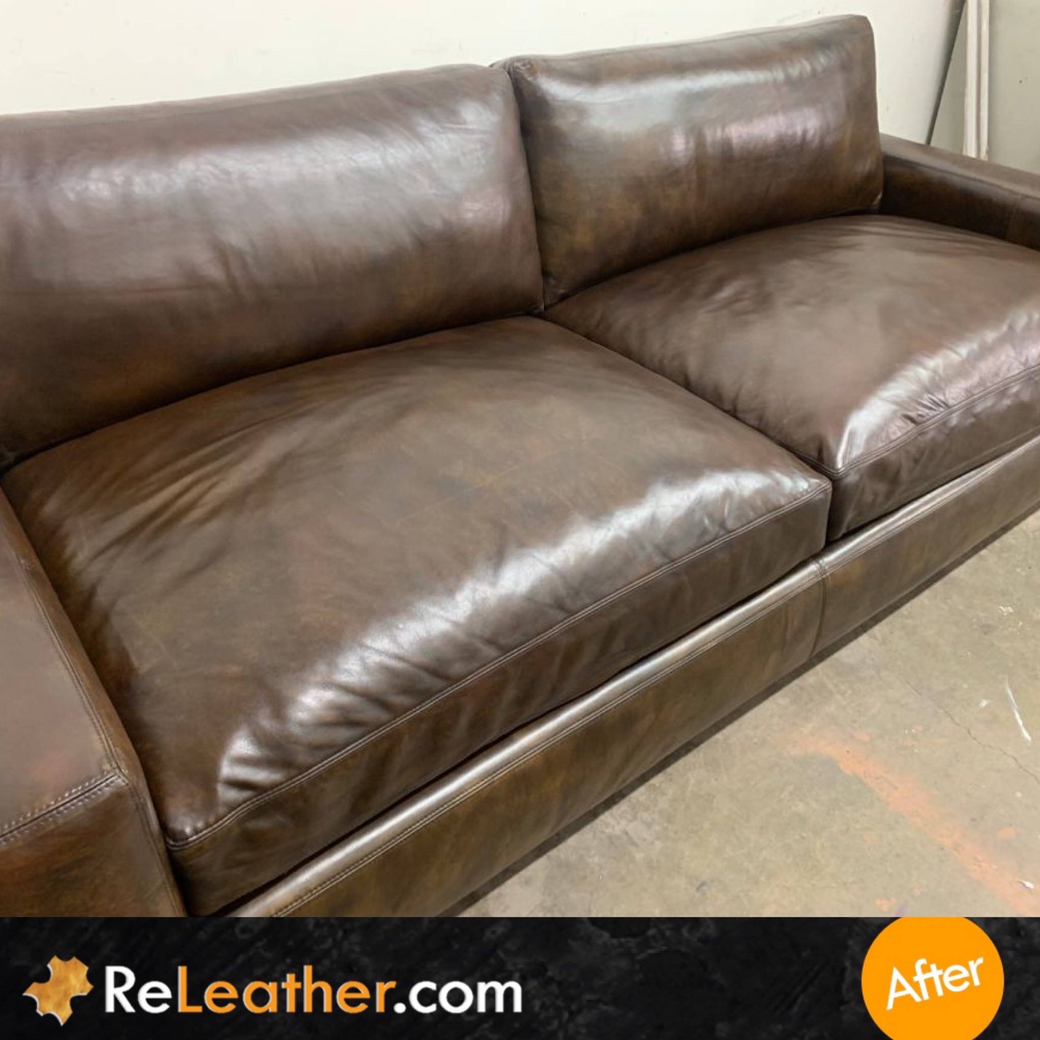 After Picture of Leather Cleaning Sofa in San Diego