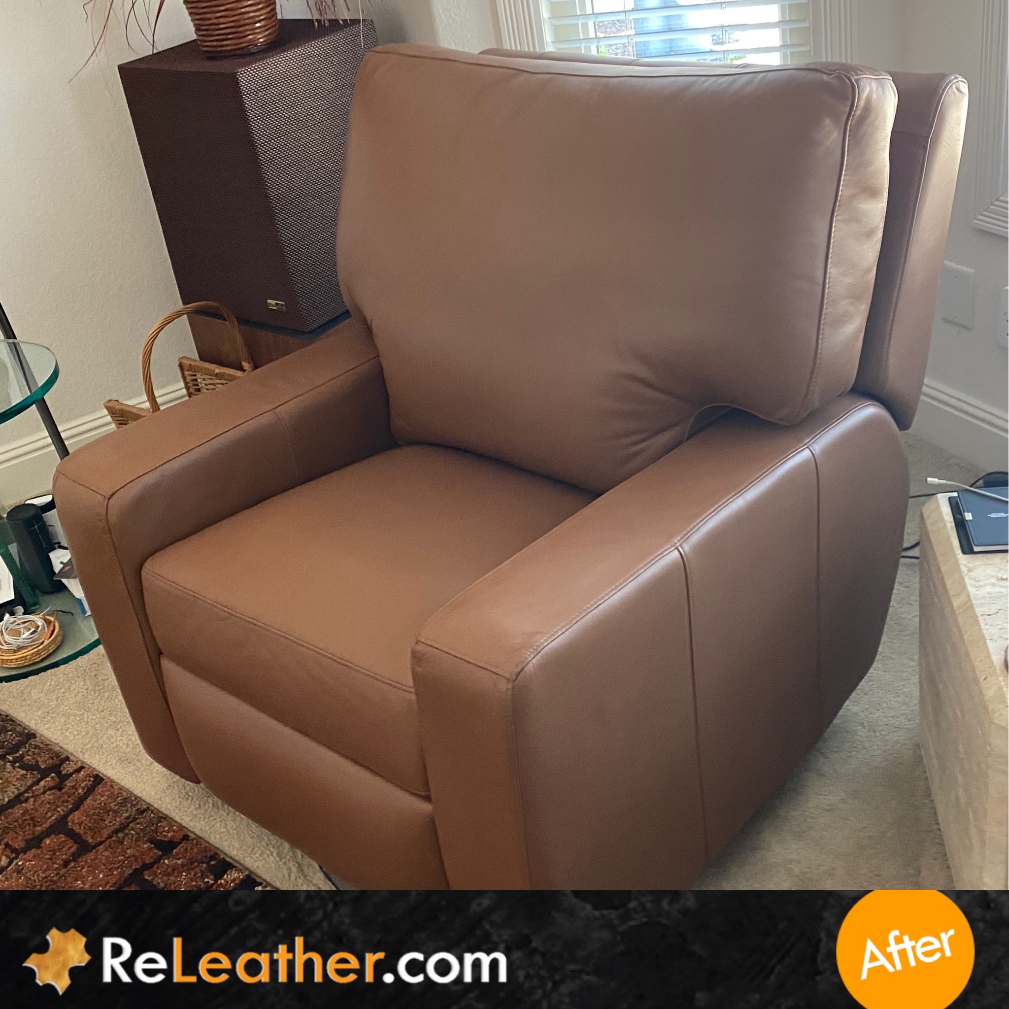 After Picture of Leather Dyeing Chair Sofa in San Diego