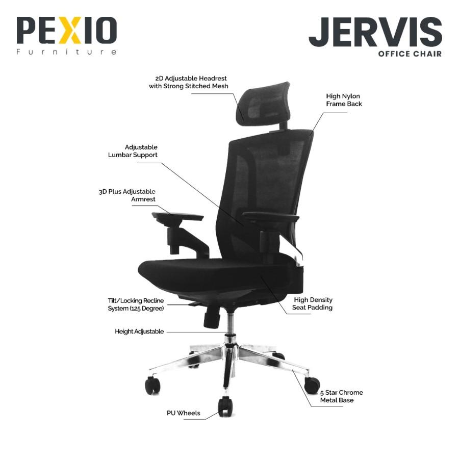Kursi Kantor Ergonomis Pexio Jervis - 95%0