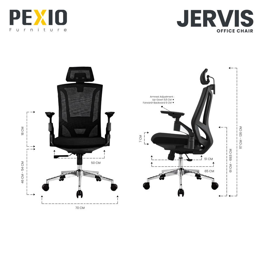 Kursi Kantor Ergonomis Pexio Jervis - 95%3