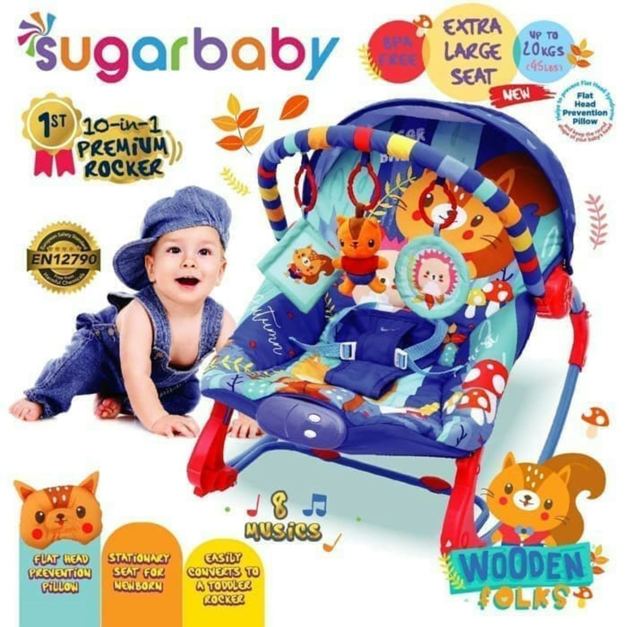 Baby Bouncer Preloved 10 in 1 type Wooden Folks