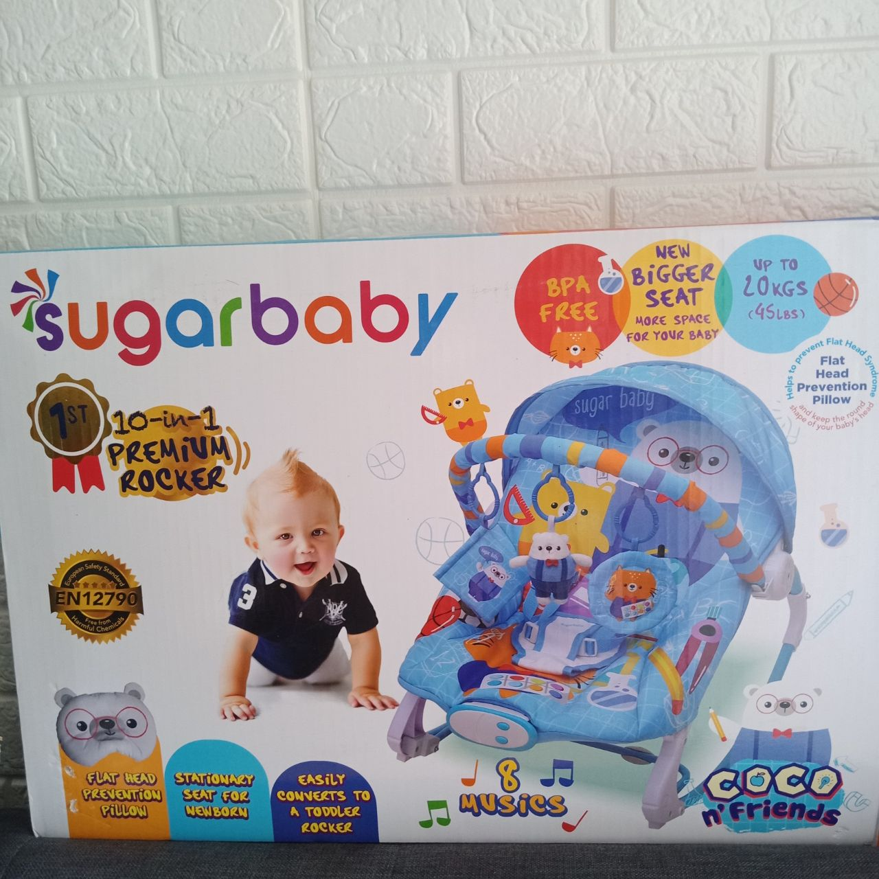 Sugarbaby bouncer 10 in 1 type Coco & Friends