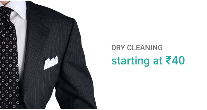 Dry clean starting at rupee 40