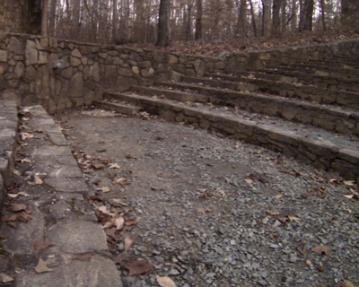 Stone stairs at the Forest Theater