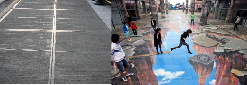 Turn sidewalks into something more interesting