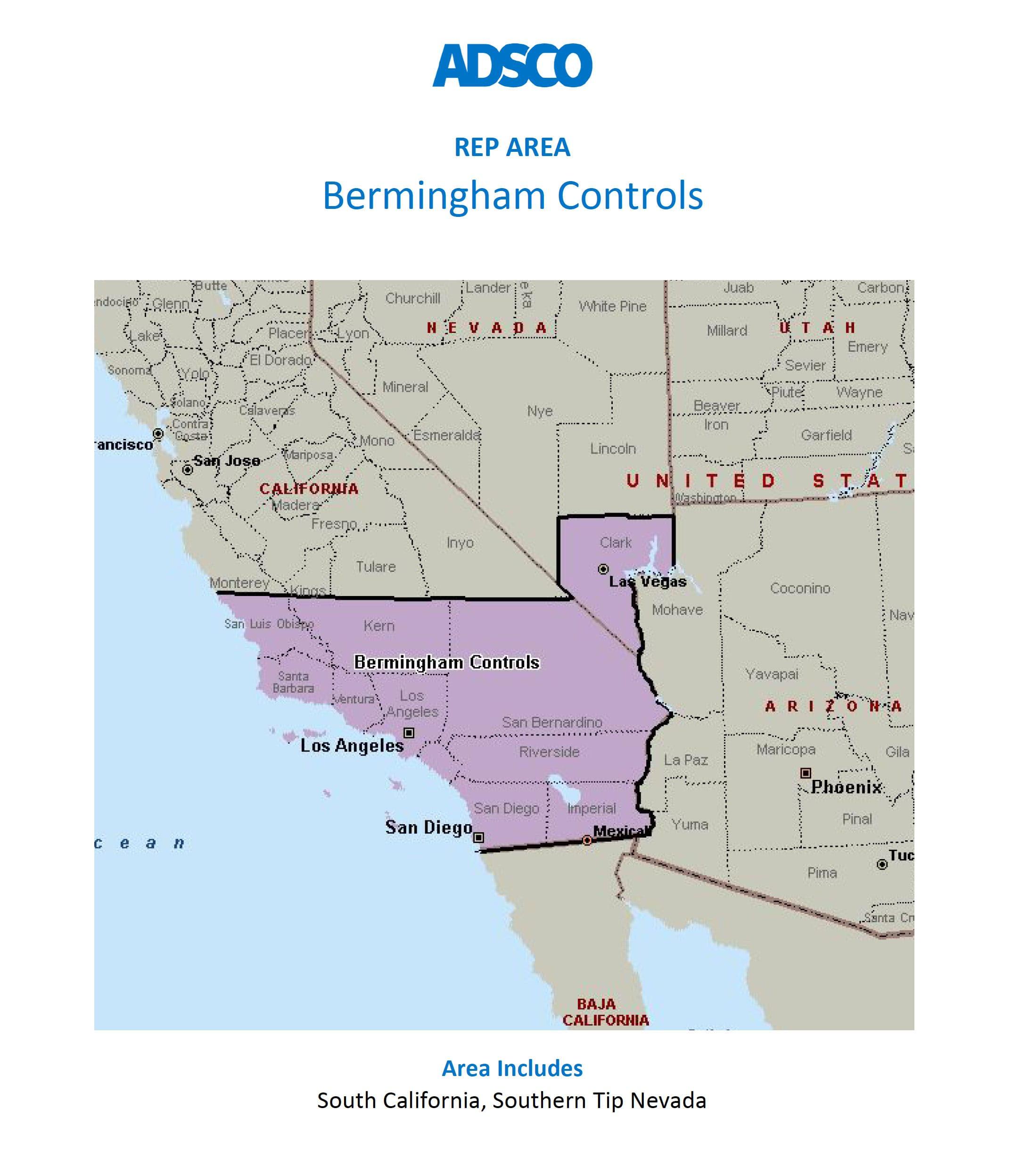ADSCO Rep Bermingham Controls