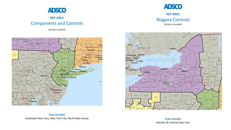 Adsco reps new york map