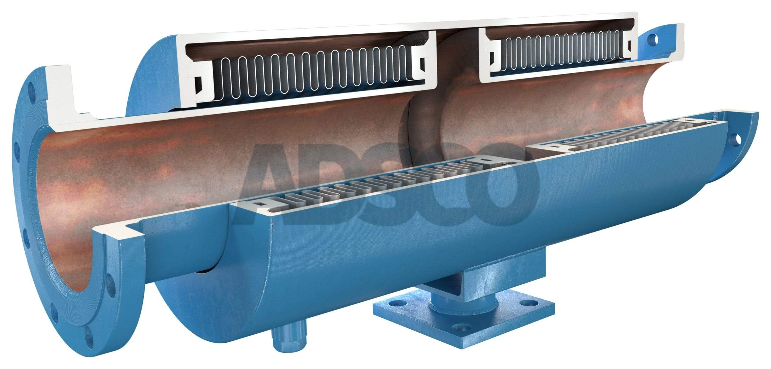 ADSCO flanged ends pressure master double bellows joint with stand