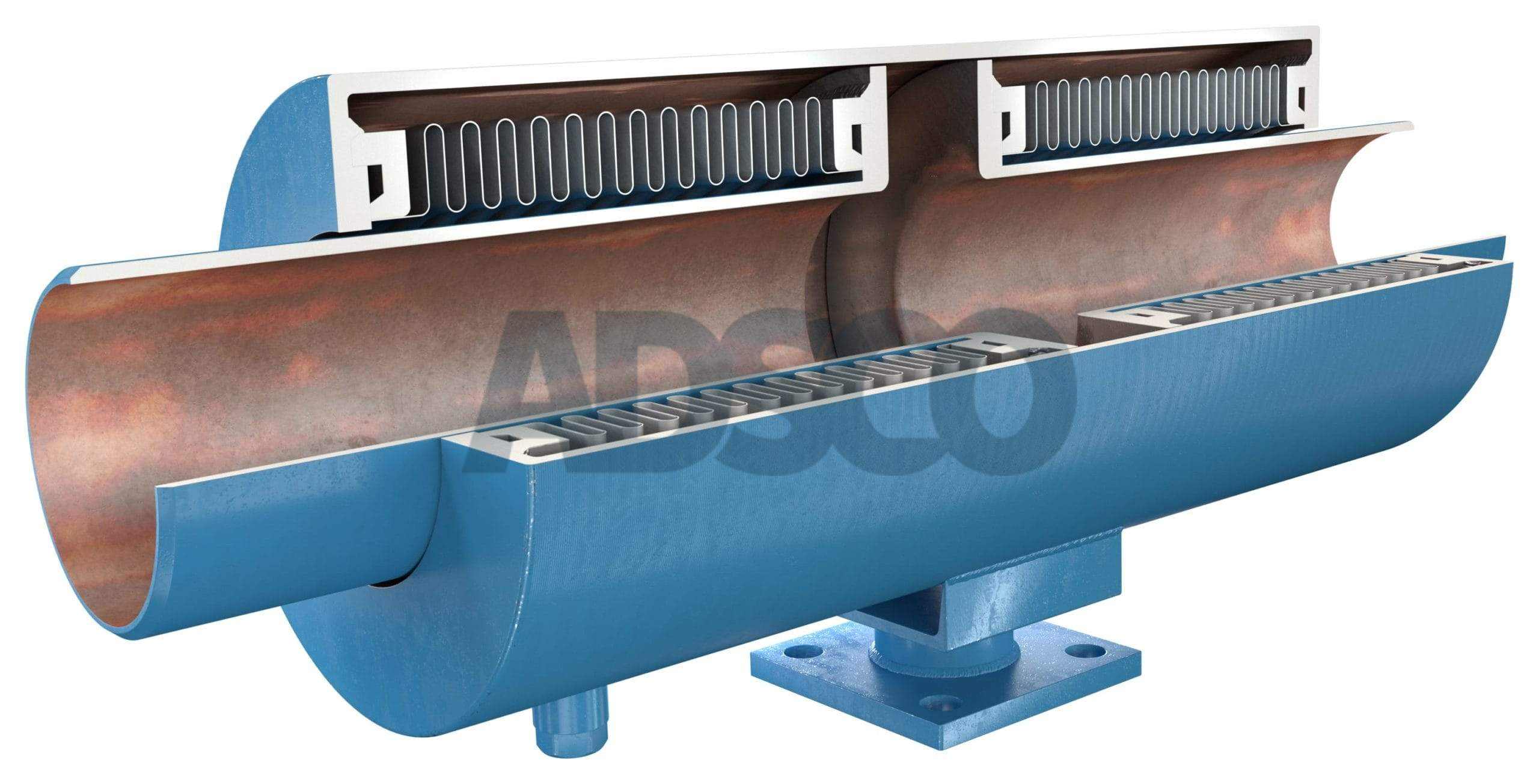 ADSCO pressure master double bellows joint with welded ends and stand