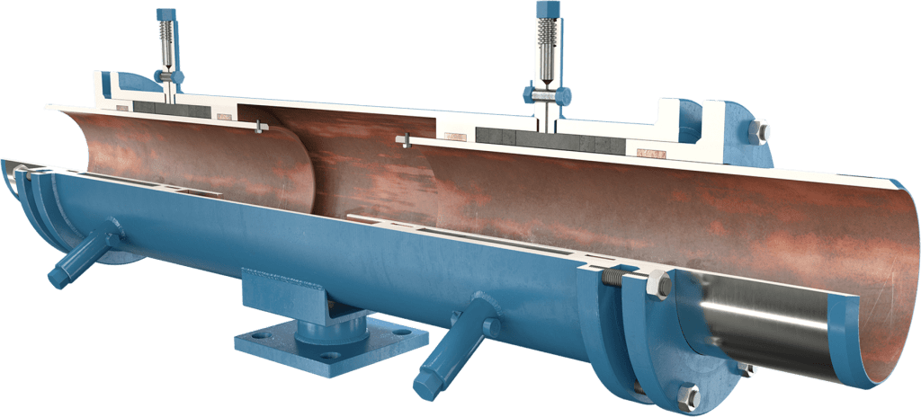 ADSCO weld ends double slip type expansion joint with stand