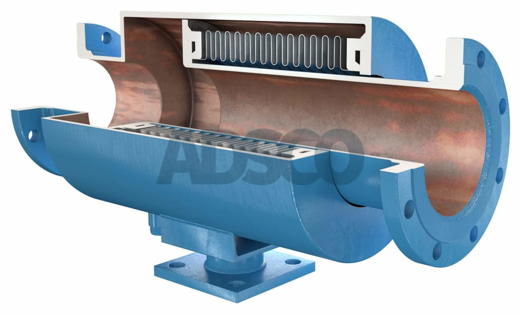 ADSCO flange ends pressure master bellows expansion joint with stand