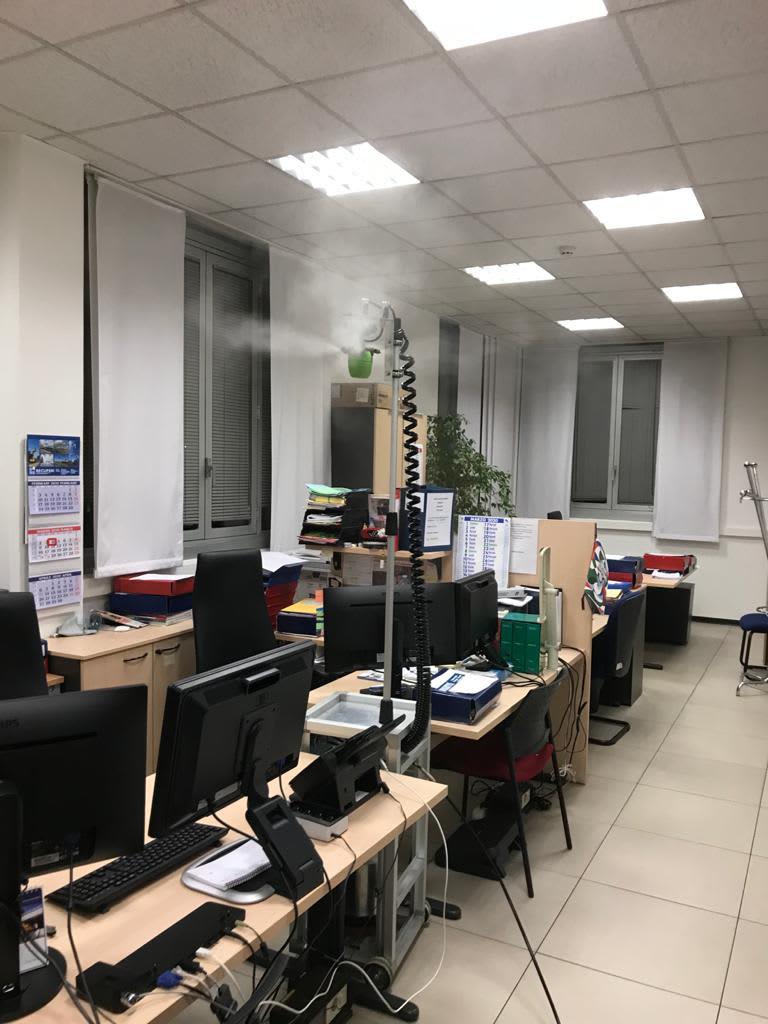 Disinfezione Virus e batteri negli ambienti di lavoro