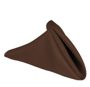 "17"" Poly Napkin Chocolate"