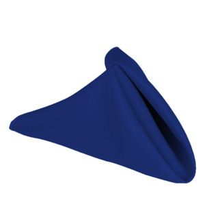 "17"" Poly Napkin Royal Blue"