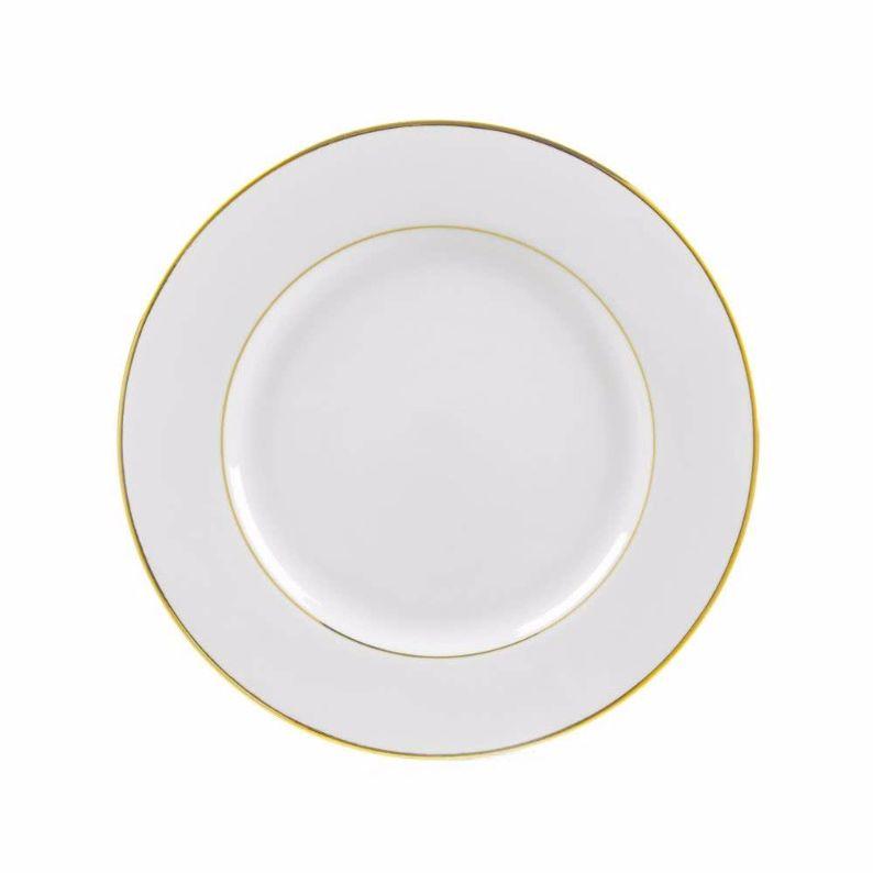 """7.5"""" Gold Rimmed  Salad Plate"""