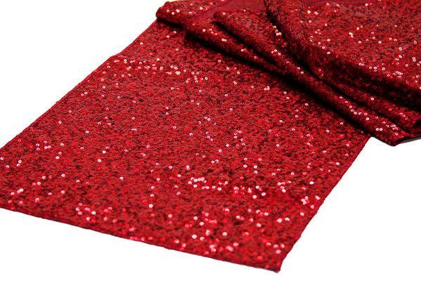 Apple Red Sequin Table Runner