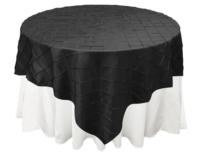 Black Pintuck Overlay