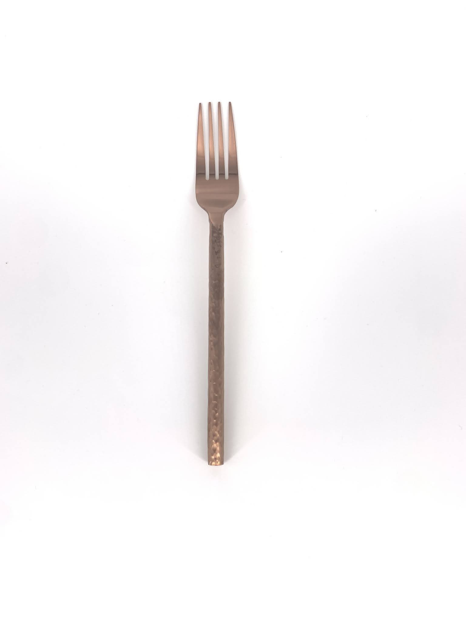 Copper Hammered Dinner Fork