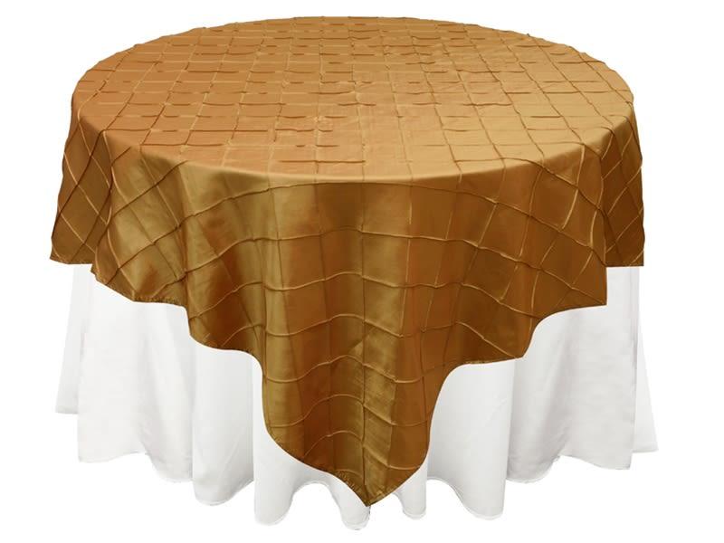 Gold Pintuck Overlay