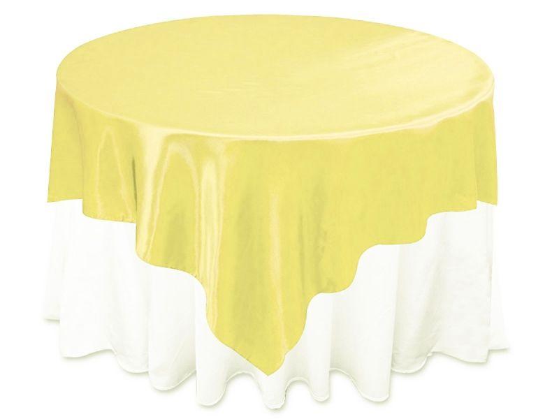 Lemon Satin Overlay