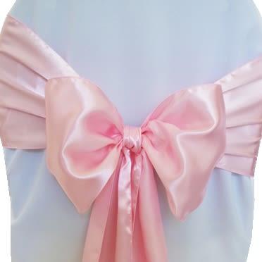 Pink Satin Sashes