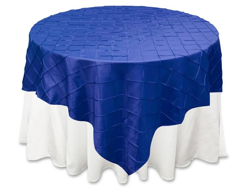 Royal Blue Pintuck Overlay