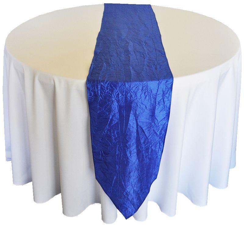Royal Blue Taffeta Runner