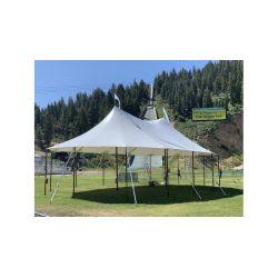 32x50 Woodgrain Sailcloth Style Tent